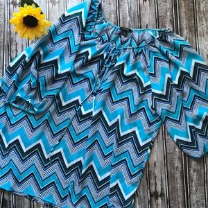 Espresso sheer turquoise blouse
